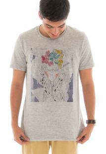 Camiseta Manga Curta Touts Garota Aquarela Cinza