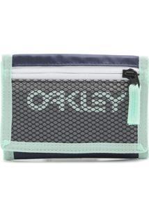 Carteira Oakley 90'S Wallet Azul Marinho/Verde