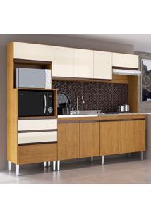 Cozinha Compacta Creta 10 Pt 2 Gv Freijó E Champanhe