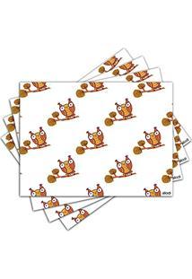 Jogo Americano - Coruja Com 4 Peças - 580Jo