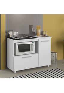 Armário De Cozinha Para Cooktop 5 Bocas Branco Premium - Multimóveis