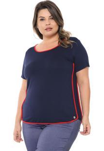 T-Shirt Melinde Sport Azul Marinho - Kanui