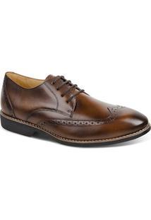 Sapato Masculino Linha Premium Oxford Sandro Moscoloni 16319 Marrom Escuro