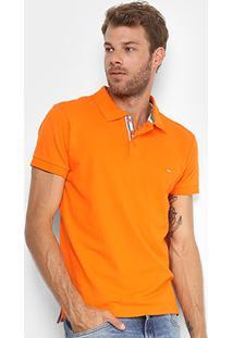 Camisa Polo Gangster Piquet Com Elastano Masculina - Masculino-Laranja
