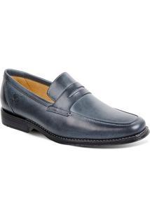 Sapato Em Couro Monte Carlo 17602 - Masculino-Azul