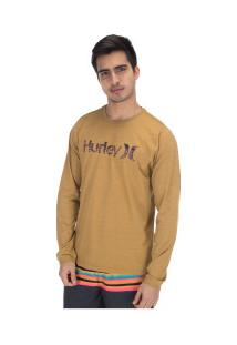 Camiseta Manga Longa Hurley Especial One&Olnly - Masculina - Mostarda