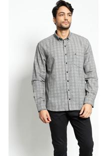 Camisa Confort Fit Xadrez - Cinza & Pretavip Reserva