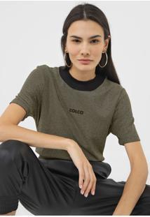Camiseta Colcci Metalizada Dourada - Kanui