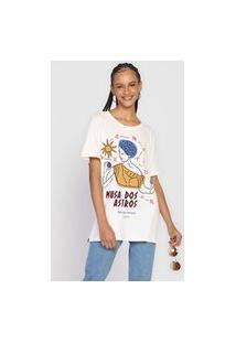 Camiseta Cantão Musa Dos Astros Off-White