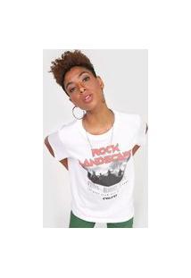 Camiseta Colcci Rock Landscape Off-White