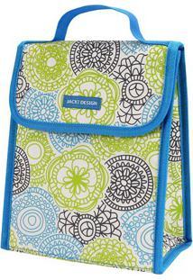 Bolsa Térmica Mandala - Azul & Branca - 19X23X13Cmjacki Design