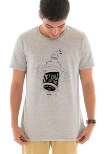 Camiseta Manga Curta Touts Save Time Cinza