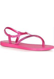 Sandália Rasteira Fena Class Wish Pink