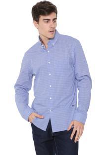 Camisa Richards Reta Padronagem Azul