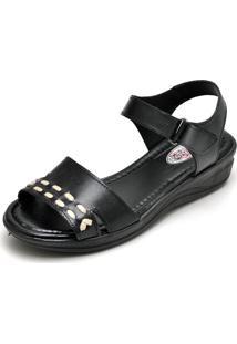 Sandalia Conforto Top Franca Shoes Preto