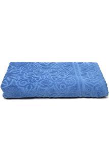 Toalha Banho Santista Felpuda Ishtar Carbono Azul