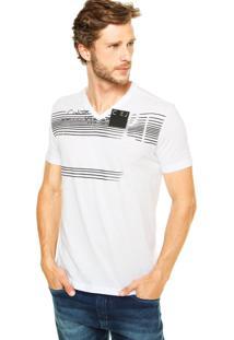 Camiseta Calvin Klein Jeans Reta Branco