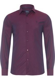 Camisa Masculina Casual Slim - Roxo
