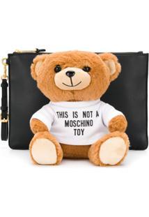 Moschino Bolsa Teddy Bear - Preto