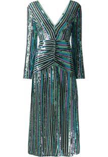 Rixo Vestido Emmy Com Paetês - Azul