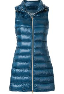 Herno Padded Hooded Vest - Azul