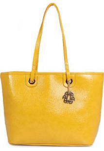 Bolsa Shopping Bag Ana Hickmann Molhado Amarelo Amarelo