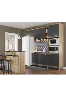 Cozinha Completa Multimóveis Com 5 Peças Sicília 5843 Argila/Grafite