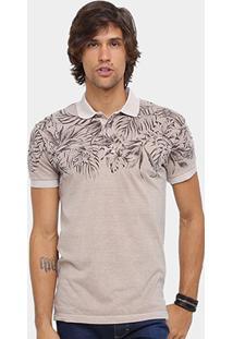 Camisa Polo Forum Malha Folhagem Masculina - Masculino