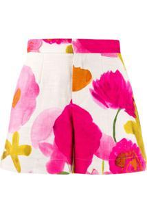 La Doublej Bermuda Slim Floral - Neutro