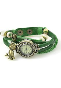 Relógio Decovian Analógico Verde