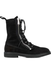 Balmain Combat Ranger Ankle Boots - Preto