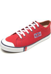 Sapatênis England Leeds Bandeira Vermelho