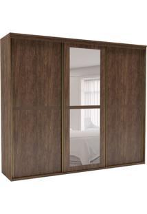 Guarda-Roupa Casal Sofisticato Ii Com Espelho 3 Pt 6 Gv Marrom
