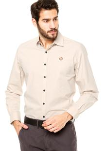 Camisa Forum Regular Fit Bege