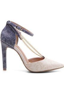 Sapato Scarpin Ramarim 17-94207 Com Corrente