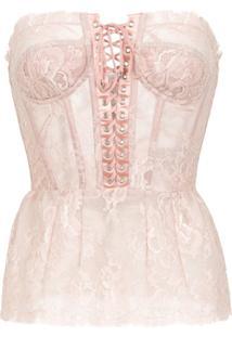 Dolce & Gabbana Blusa Tomara Que Caia Corselet - Rosa