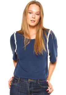 Blusa Fiveblu Renda Azul