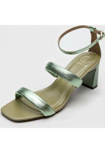 Sandália Dumond Metalizada Verde
