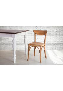 Cadeira De Madeira Torneada Com Encosto E Assento Anatômico Jatobá Amélie - 44,5X45X81 Cm