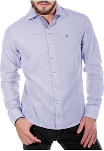 Camisa Social Tony Menswear Listrada Azul
