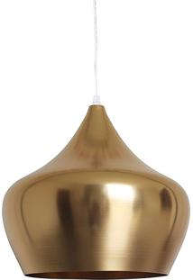 Luminária Urban Loft Metal Apple 38Cm Dourada