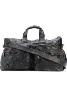 Officine Creative Crinkled Holdall Bag - Marrom