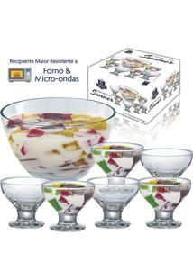 Conjunto Sobremesa New Summer Premium 7 Peças - Ruvulo - Transparente