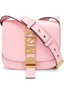 Moschino Lettering Logo Shoulder Bag - Rosa