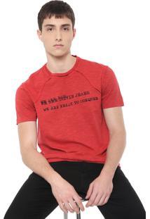 Camiseta Calvin Klein Jeans Dupla Face Vermelha