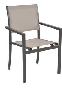 Cadeira Ubatuba Amêndoa Tela Bege Rivatti Móveis