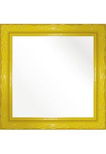 Espelho Brilho Rococo Amarelo 26X26Cm