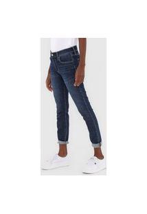 Calça Jeans Gap Skinny Cropped Estonada Azul