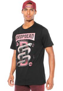 Camiseta Drop Dead Snake Preta