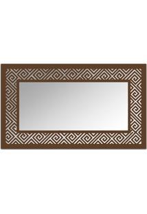 Espelho De Parede 12879I Marrom 70X110 Art Shop
